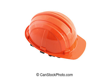 Safety hat on white background