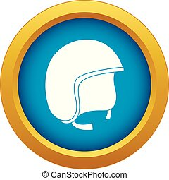 Safety helmet icon blue vector isolated