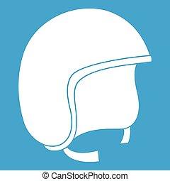 Safety helmet icon white