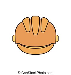safety helmet isolated icon vector illustration design