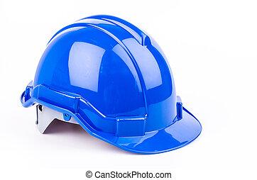 Safety helmet on isolated white background