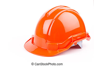Safety helmet on isolated white background