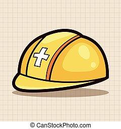 safety helmet theme elements