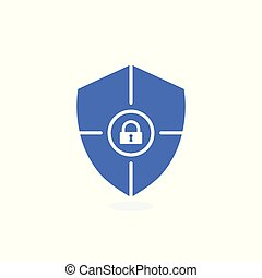 Safety icon, confirmation, shield with a checkmark, protection and security icon with padlock sign. Safety icon and security, protection, privacy symbol
