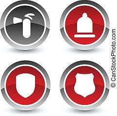 Safety icon set. Vector illustration.
