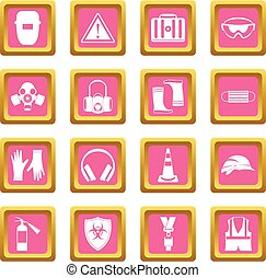 Safety icons pink