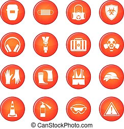 Safety icons vector set