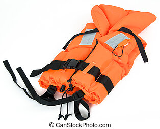 safety jacket - life jacket isolated on white