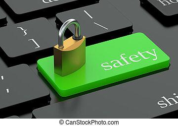Safety keyboard button