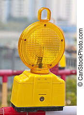 Safety lamp on street