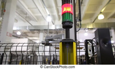 safety light curtains, which signaling and stopping robot...