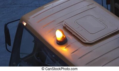 Safety Light - Rotating Amber Safety Light at Truck