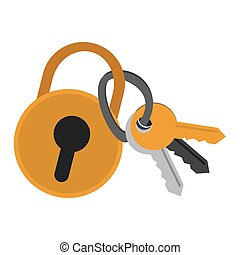 safety lock with keys