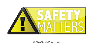 safety matters illustration designs over a white background