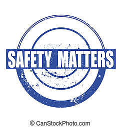 safety matters stamp
