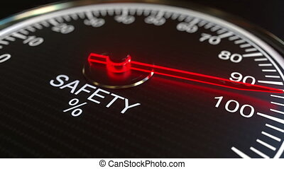 Safety meter or indicator conceptual animation - Analog...