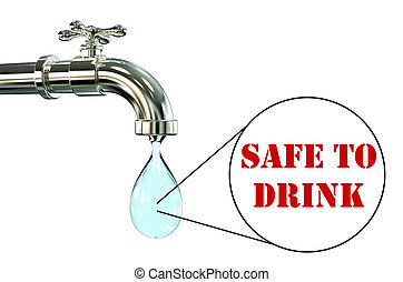 Safety of drinking water concept