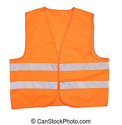 Safety orange vest.
