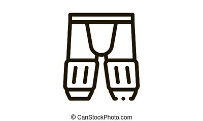 Safety Pants Icon Animation. black Safety Pants animated icon on white background
