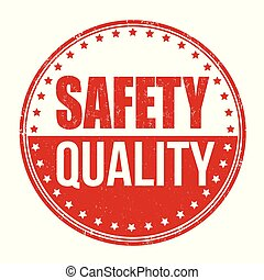 Safety quality grunge rubber stamp