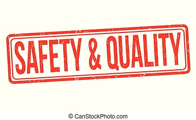 Safety & quality grunge rubber stamp