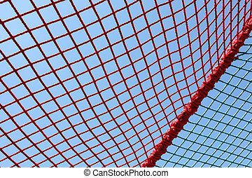 safety red net against the blue sky