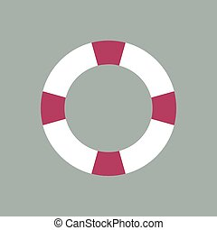 Safety ring icon, vector