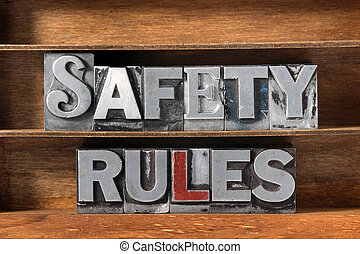 safety rules tray