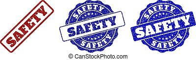 SAFETY Scratched Stamp Seals