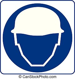 Safety sign. Safety Helmets Must Be Worn.