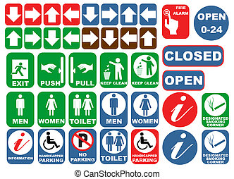 Safety signs - Safety sign set vector