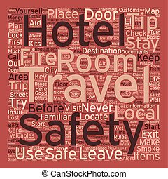 Safety Tips For Travelers text background wordcloud concept