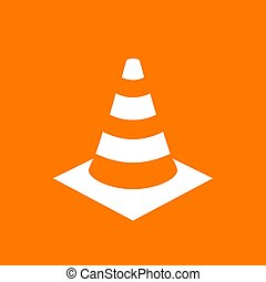 Safety traffic cone vector pictogram