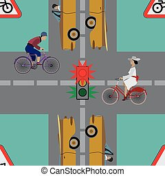 Safety traffic on the road