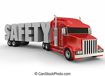 Safety Truck Trailer 3d Word Driving Training Semi Big Rig...