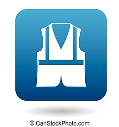 Safety vest icon in simple style