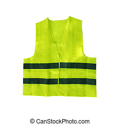 Safety vest isolated