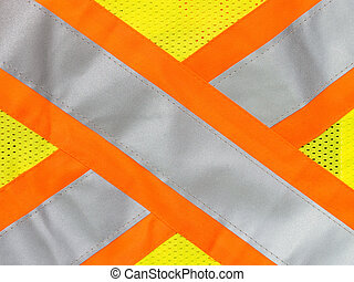 Safety vest reflective tape