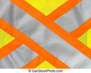 Safety vest reflective tape