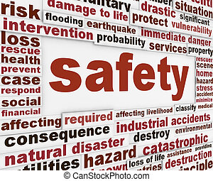 Safety warning message background. Protection poster ...