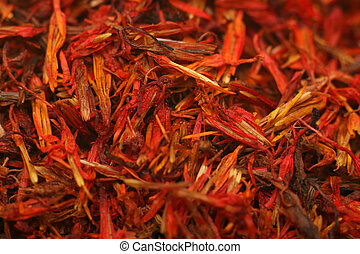 saffron spice, close