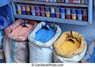 safian, kolor, sprzedaż, medyna, chefchaouen