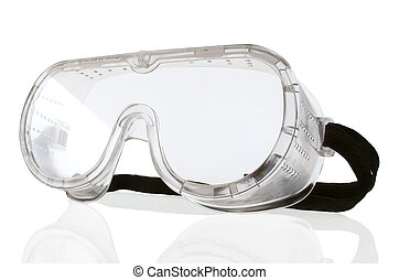 Saftey Goggles - New safety goggles on a white background