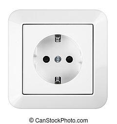 saftey socket - white european power socket