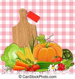 saftige, grønsager, by, din, konstruktion