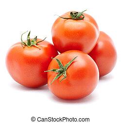 saftige, isoleret, tomato.