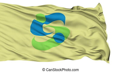 Saga Capital City Isolated Flag - Saga Capital City Flag,...