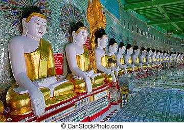 sagaing, buddha, estatuas, myanmar