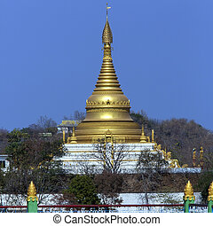 Sagaing Hill near the city of Sagaing in Myanmar (Burma)