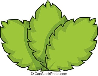Sage herb icon, cartoon style